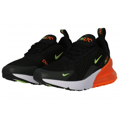 chaussures air max 270 orange noir