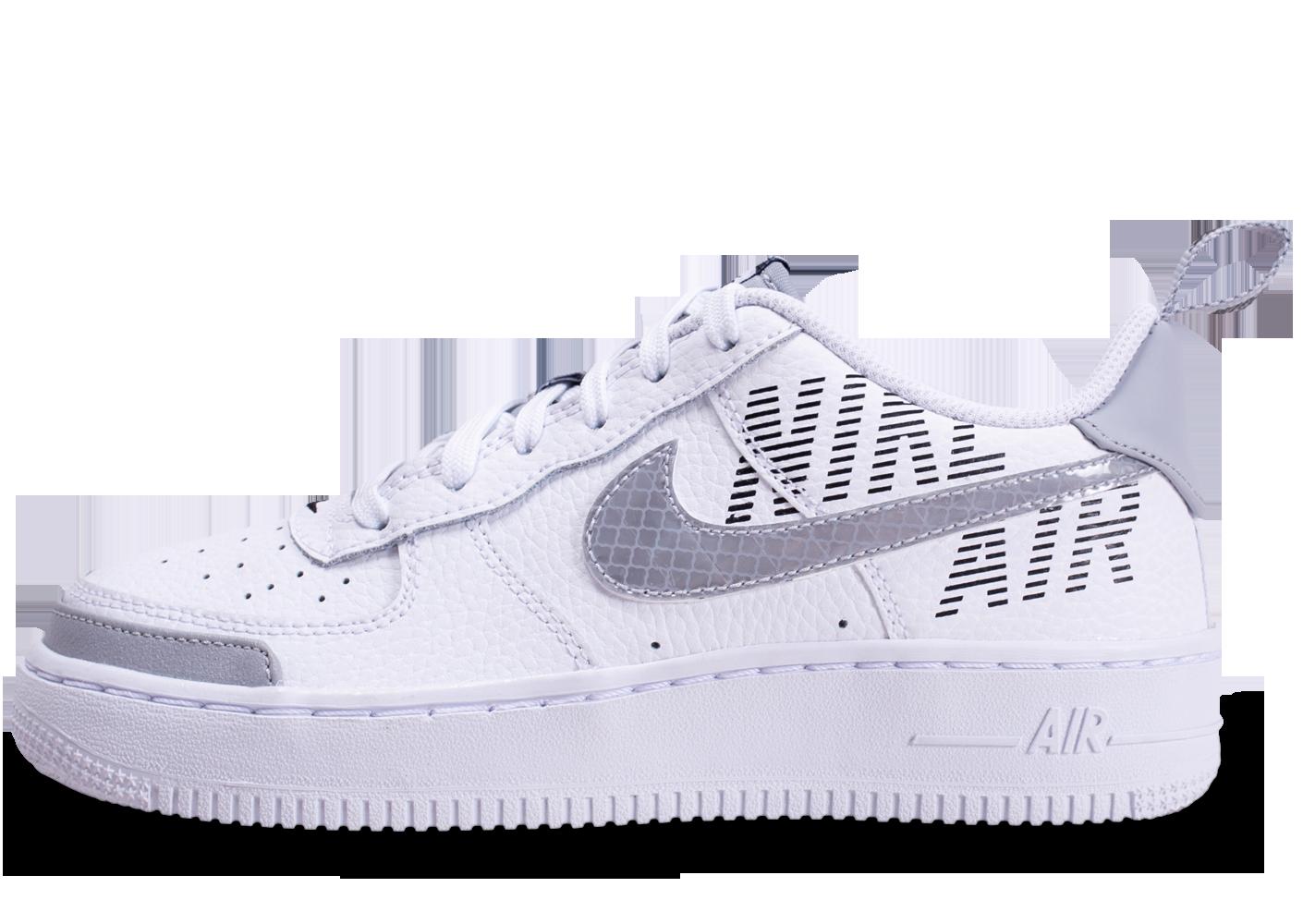 air force 1 femme grise et blanche